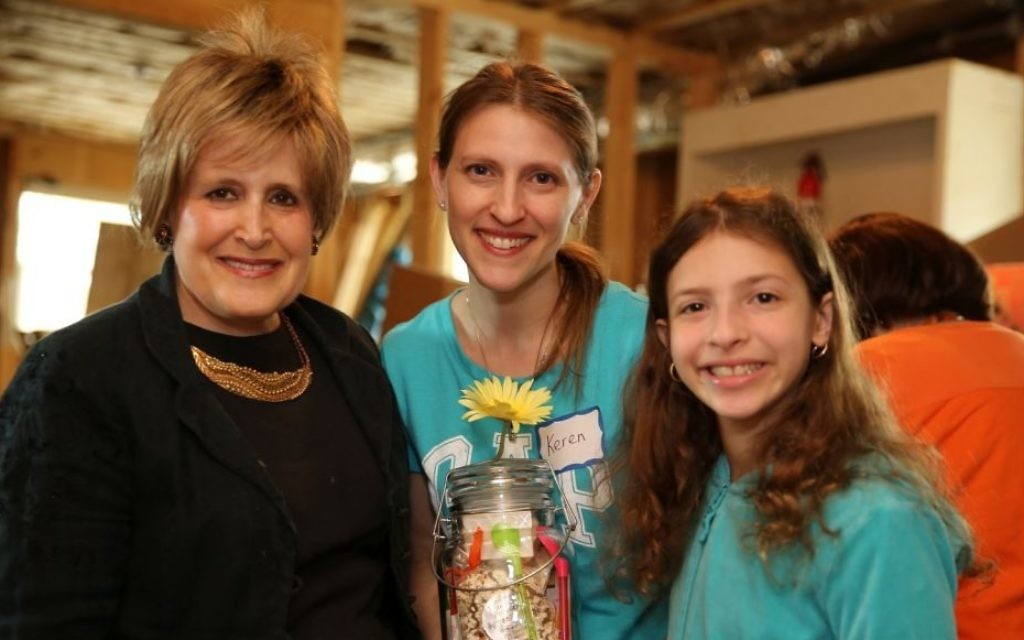 (From left) Barbara Fisher, Keren Fisher and Nina Flusberg represent three generations of AMIT volunteers.