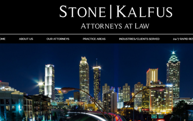 A screen grab from the Stone Kalfus website