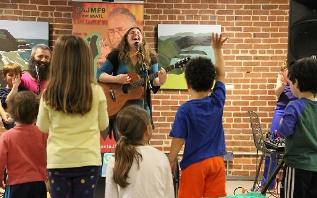 Folk musician Chana Rothman entertains crowds of all ages during her weeklong artist residency. (Photo courtesy of AJMF)
