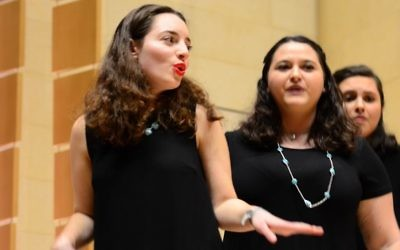 Emory's ChaiTunes performs at the national championships in Washington on March 10. (Photo courtesy of Hillel International)