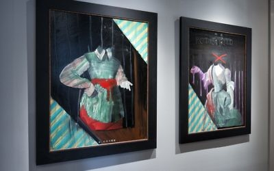 """Headless Heads"" describes two paintings (the Rothschild Set) by Max Coyer, a Connecticut artist who died in 1988 at 34. Ron Lazarus acquired them from a client who found the headless feature off-putting."