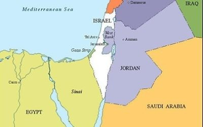 Time hasn't run our for Israel and her neighbors to pursue peace. (Map from CIE The World Factbook — Israel, June 2014)