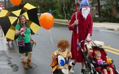 Costumes are a family affair along LaVista Road.