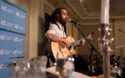 In partnership with the Atlanta Jewish Music Festival, Israeli musician Lior Ben-Hur performs Dayenu during the seder.