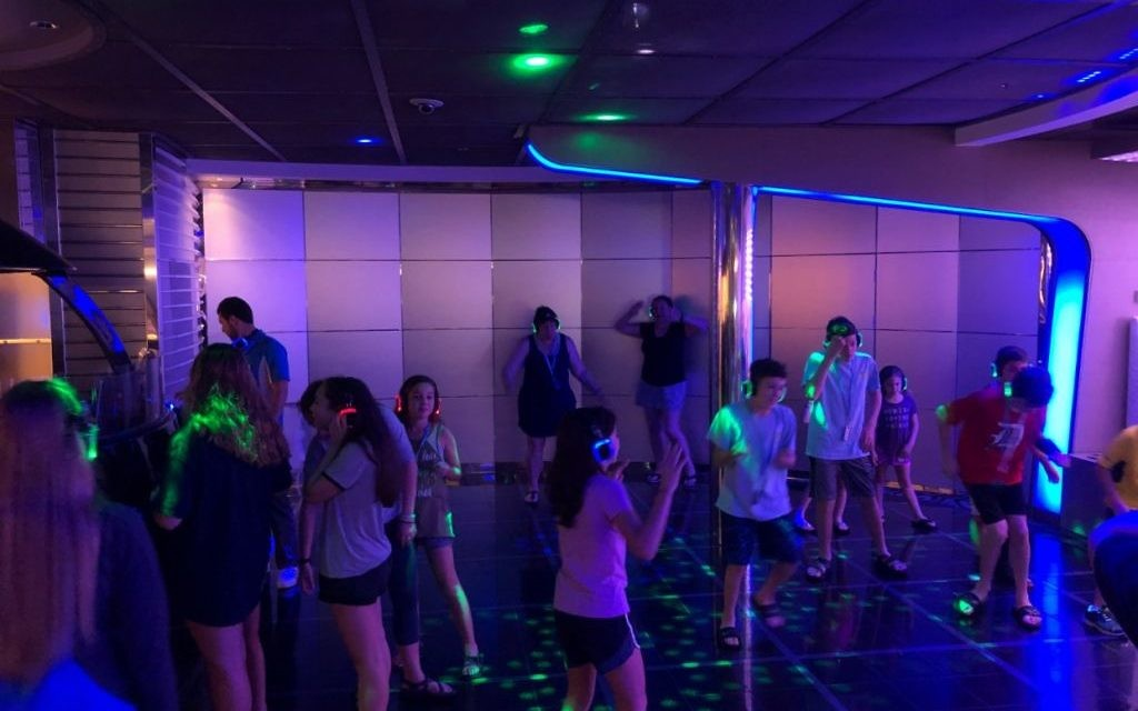 The on-board disco is one of the places the Jewish families could celebrate.