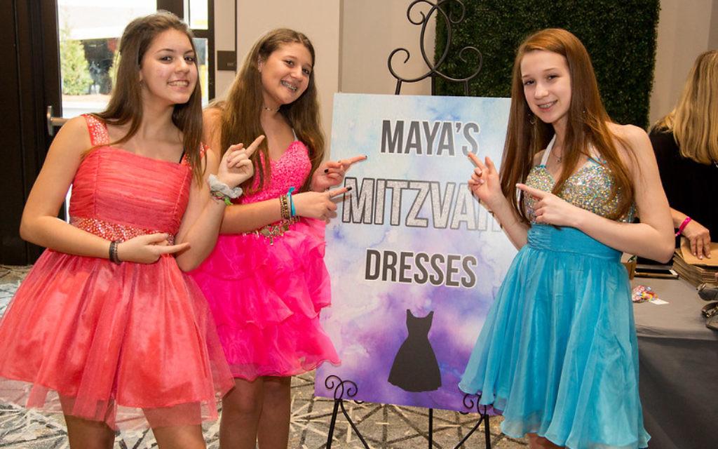 eae107a5a59d Maya's Mitzvah Dresses was among the vendors at February's Bar & Bat Mitzvah  Expo.