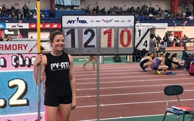 Epstein alum and Weber 11th grader Ariel Arbiv had a record-breaking vault at the New Balance National Championships.