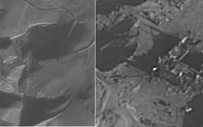 Images released by the IDF show the Syrian facility before (left) and after the Israeli strike in 2007.