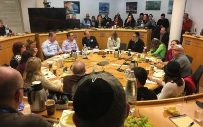 The winter Atlanta Jewish leadership mission visits the Israel Democracy Institute.
