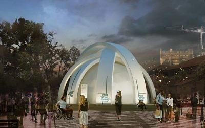 The Democracy Pavilion in Tel Aviv will tell the story of Israeli democracy through the end of the year.