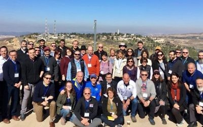 Representatives of the Jewish Federation of Greater Atlanta and dozens of other Atlanta Jewish organizations visit Yeshivat Har Etzion during the community leadership mission to Israel in January and February.