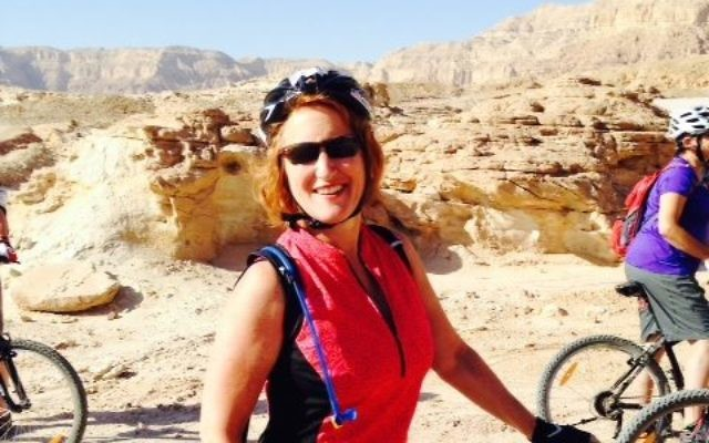 Beth Gluck visits Timna during the Israel Ride.