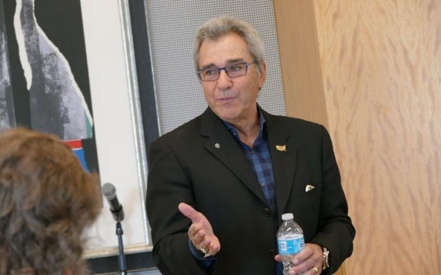 Michael Coles speaks to the Jewish Breakfast Club in March 2016.