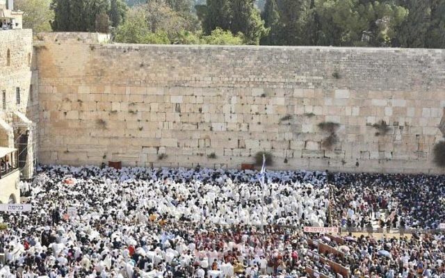 The blessing of the Kohanim at the Western Wall