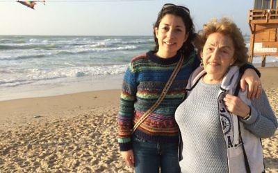 Marita Anderson and her grandmother in Israel
