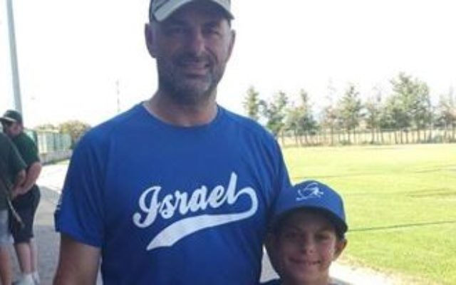 Rabbi Adam Frank and son Nadav attend a baseball tournament in Italy.