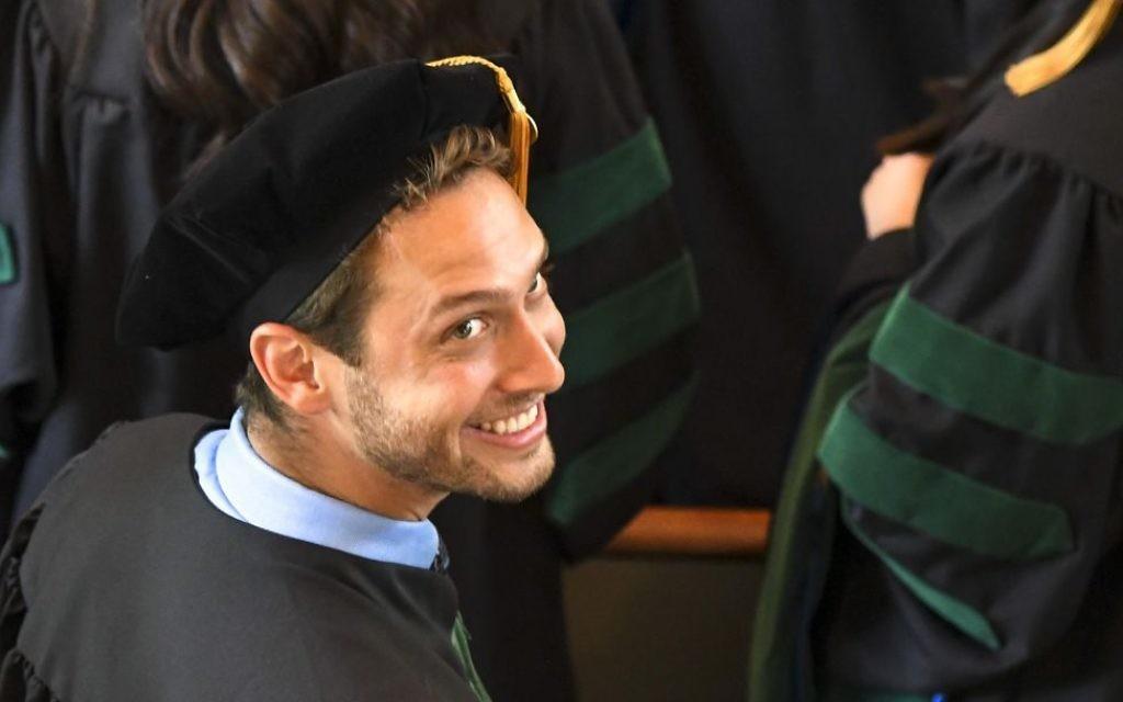 Max Goldman graduates from Emory School of Medicine on May 14.
