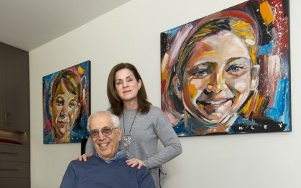 """Abe and Linda Schear commissioned two Penley oils of their children in 1993, """"long before he became so popular."""" They recently downsized from their Buckhead home of more than 37 years to a new Midtown condominium. (Photo by Duane Stork)"""