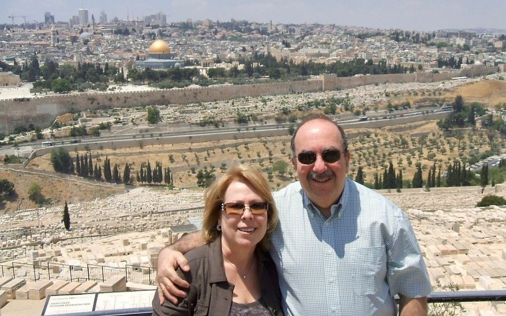 Ronit and Yitz Hermoni enjoy a visit back to Jerusalem.