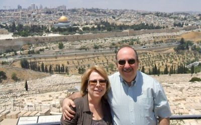 Ronit and Yitz Hermoni enjoy a visit back to Jerusalem.
