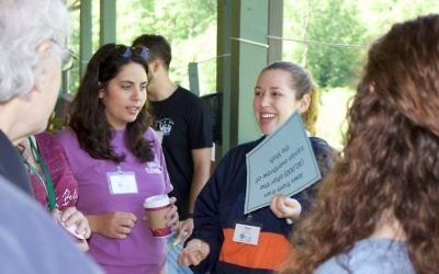 Jewish camp staffers participate in a three-day CIE retreat at Ramah Darom.