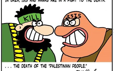 Cartoon by Yaakov Kirschen, Jerusalem Post, Israel