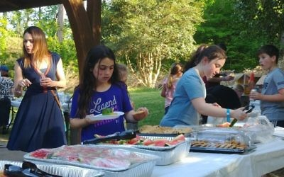 Coleslaw, corn on the cob, cookies and watermelon are among the items to eat.