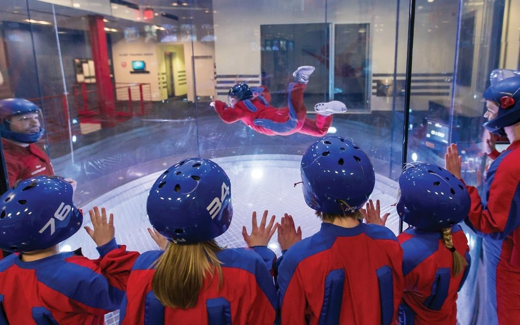 Each flier gets goggles, a helmet and a flight suit for the experience. (Photo courtesy of iFly)