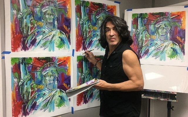 Paul Stanley took up painting 16 or 17 years ago.
