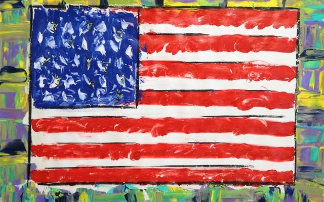 Paul Stanley's flag paintings reflect his advocacy for military veterans.
