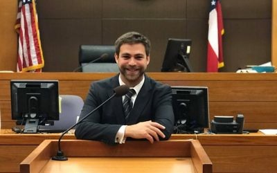 With law school behind him, David Zev Rosenberg's focus is on passing the bar exam.