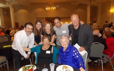 Surrounding Lillie Janko are her children and their spouses: (clockwise from left front) Paige Janko Peritt, David Peritt, Angie Janko, Dena Cohen, Mark Cohen and Shawn Janko.