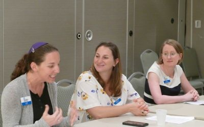 (From left) Rabbis Lydia Medwin, Samantha Shabman and Loren Filson Lapidus talk about the challenges and rewards of serving as rabbis. (Photo by Sarah Moosazadeh)
