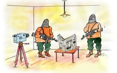 Maybe the newspaper industry wasn't the best career choice. (Cartoon by Pavel Constantin, Romania)