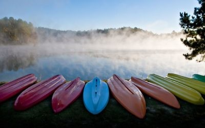 Canoeing and other water sports are available at Foxhall's 16 freshwater lakes.