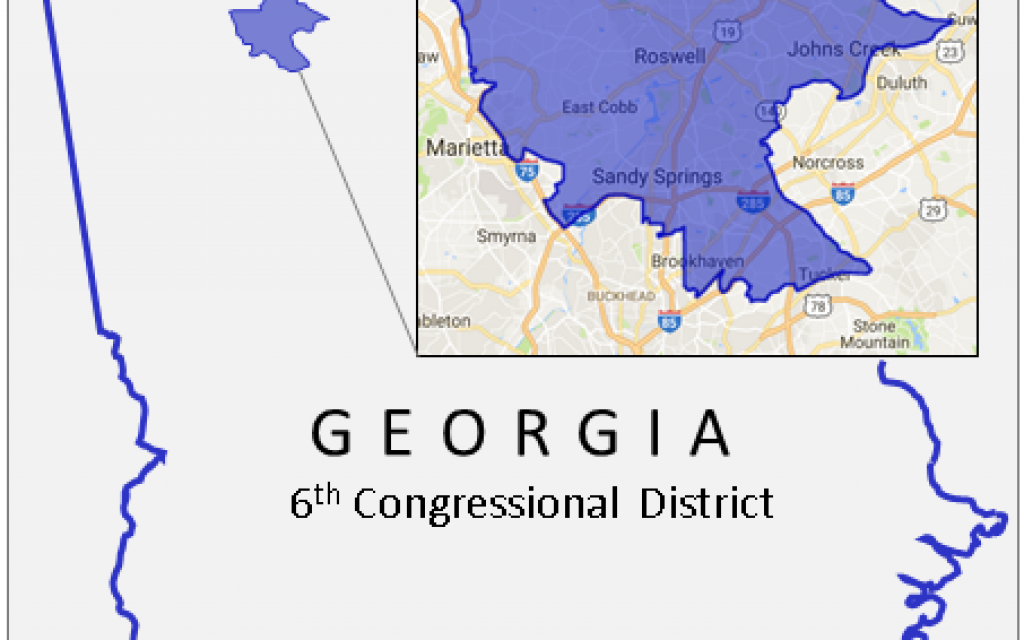Middle District Of Georgia Map.Dem Hopefuls Face Uphill Climb In 6th District Atlanta Jewish Times