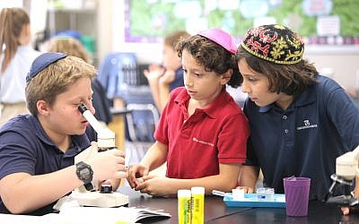 Epstein students in science class.