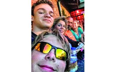 Kaylene Ladinsky and her family.