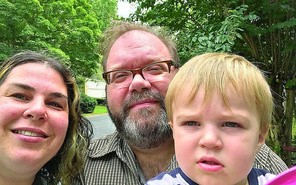 """Neta Ezra and Dave Franz with their son Eli, who will attend AJA Preschool with the help of """"One Happy Preschooler."""""""