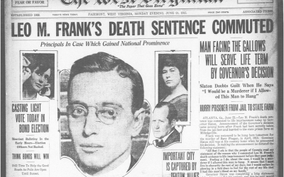 June 21, 1915 cover announcing the Leo M. Frank's death sentence commuted.
