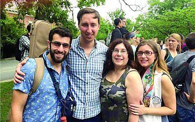 From left: Jeffrey Silverstein, Geoff Schmelkin, Ellen Drake and Rabbi Rachel Schmelkin.