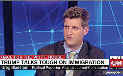 Greg Bluestein appears weekly on CNN with his lively political commentary.