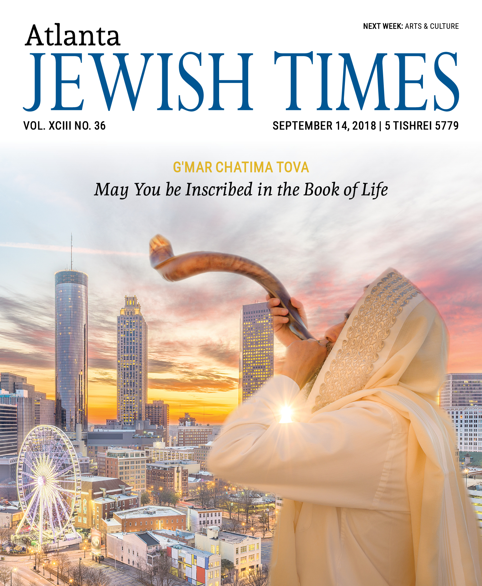Yom Kippur Issue Vol. XCIII No. 36, September 14, 2018