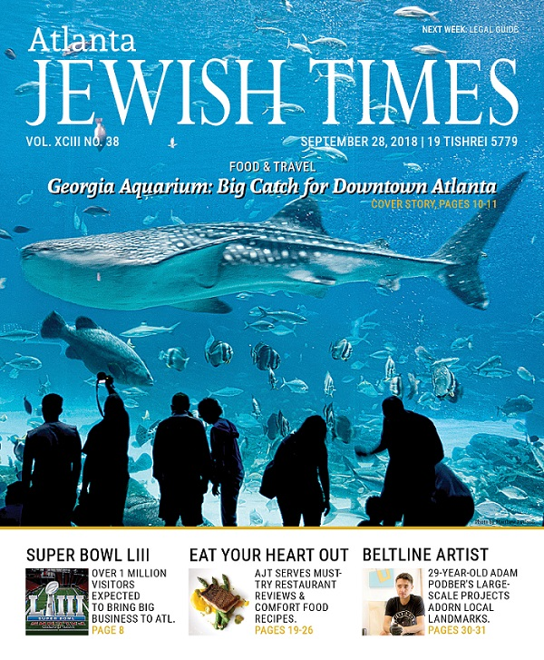Atlanta Jewish Times, Vol. XCIII No. 38, September 28, 2018