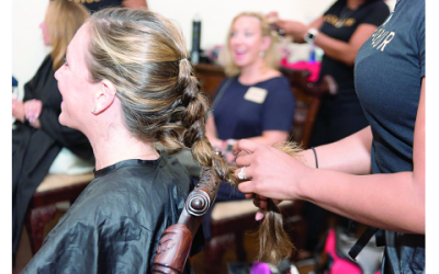 Hair braiding by salon professionals. //Photos by Plotner Photography.