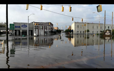 Downtown Whiteville, N.C., flooded by Hurricane Florence.