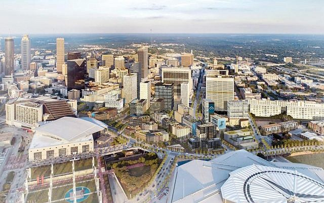 Rendering of CIM Group's proposed redevelopment of downtown Atlanta's Gulch.