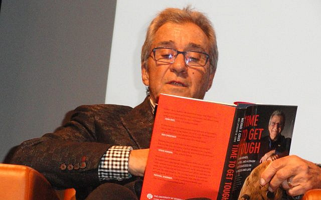 """Michael Coles reads from his new book, """"Time to Get Tough."""""""