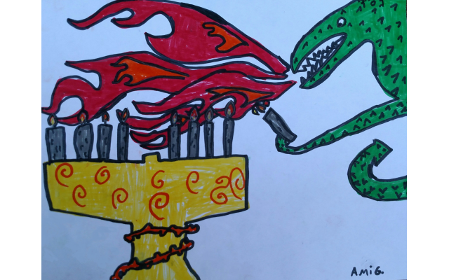 Chanukah is Coming by Ami Graber from  Atlanta Jewish Academy, Fourth Grade