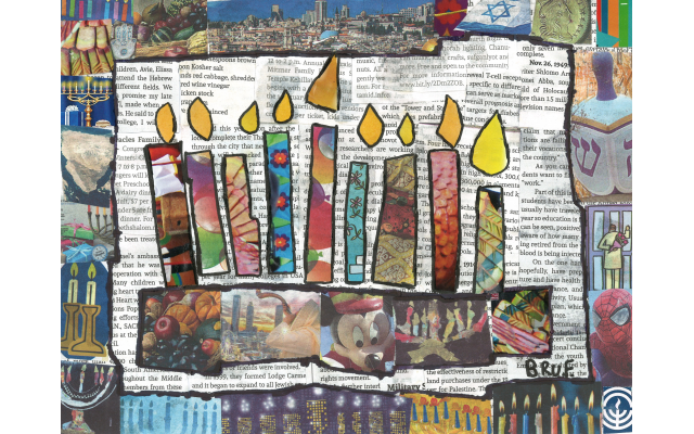 AJT Chanukah Collage by Beruriah Freedman from Chaya Mushka Children's House, Fourth Grade